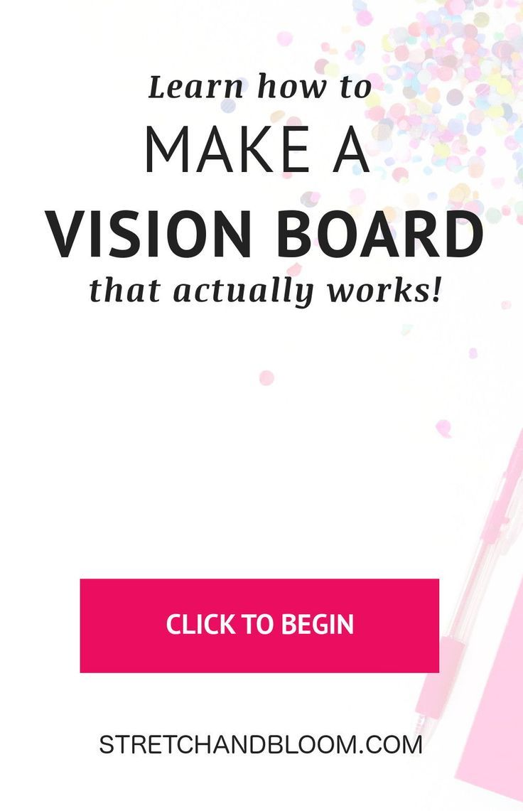 Learn how to create a vision board that actually works! #visionboard #manifestation #lawofattraction