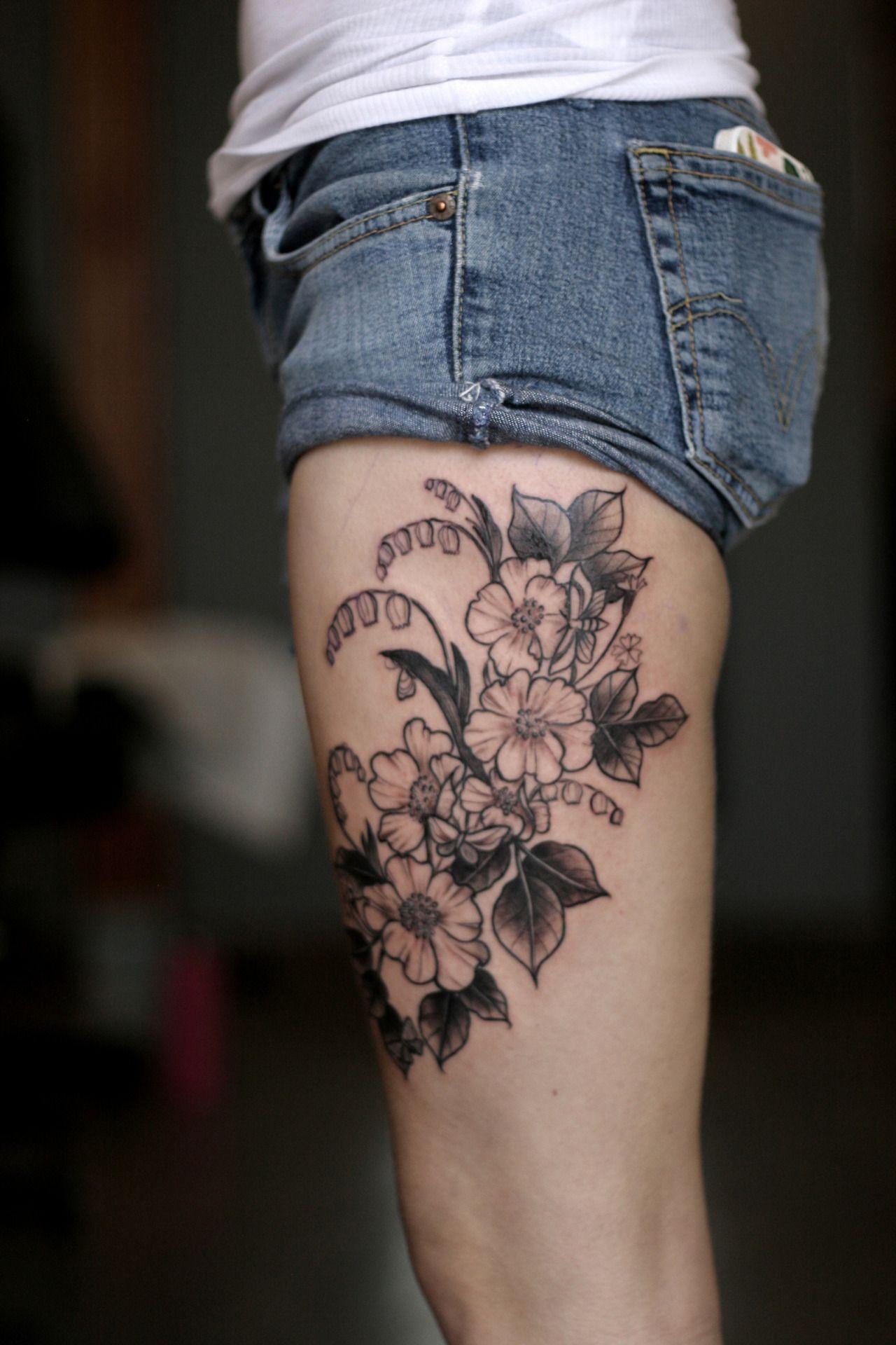 Tattoo by alice carrier flowers pinterest tattoos flower