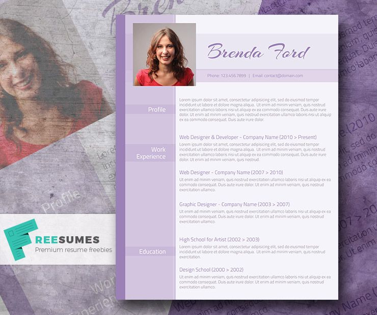 Professional Purple A Free Purple Themed Cv Template Freesumes Cv Template Cv Resume Template Creative Resume Template Free