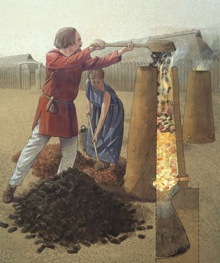 history of iron smelting technology Building community: medieval technology and american history - project of penn state university and the national endowment for the humanities.