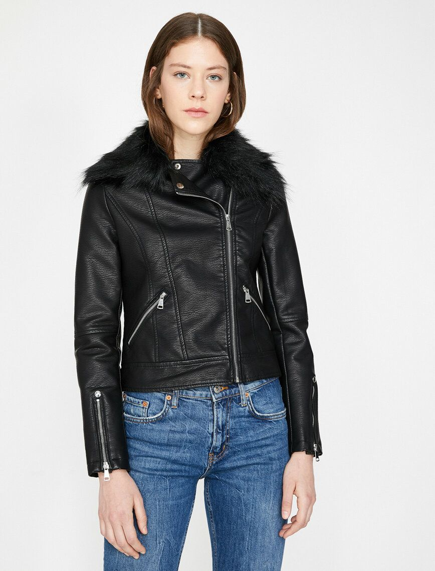 5f074b6d2dc54 Leather Look Coat, 2019 | ♛ Smart Casual ♛ To Buy @ Koton ...
