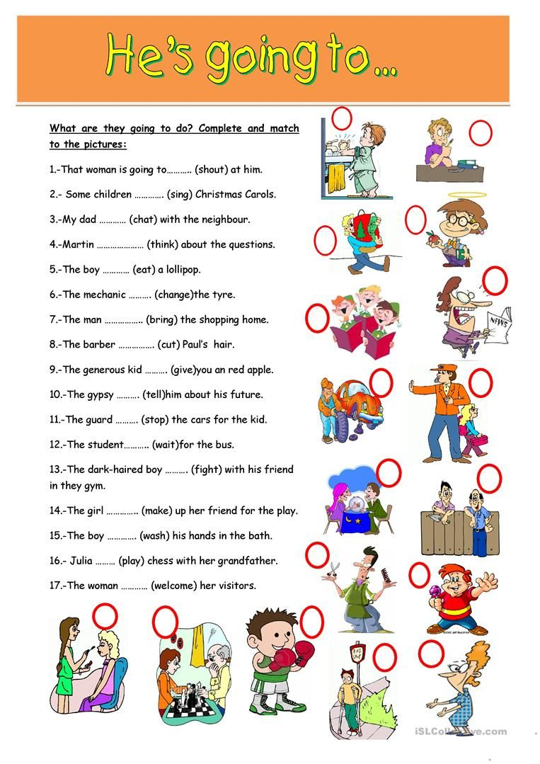He is going to..... worksheet - Free ESL printable worksheets made ...