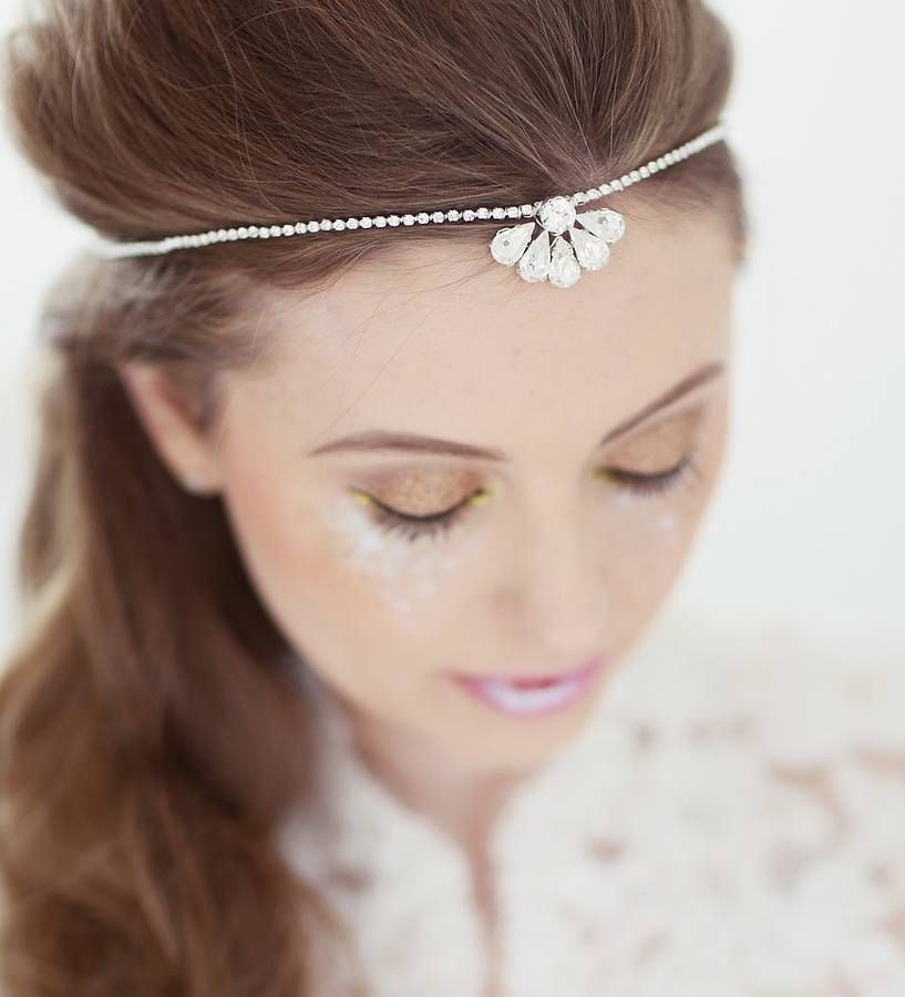 clemise wedding forehead band by corrine smith design