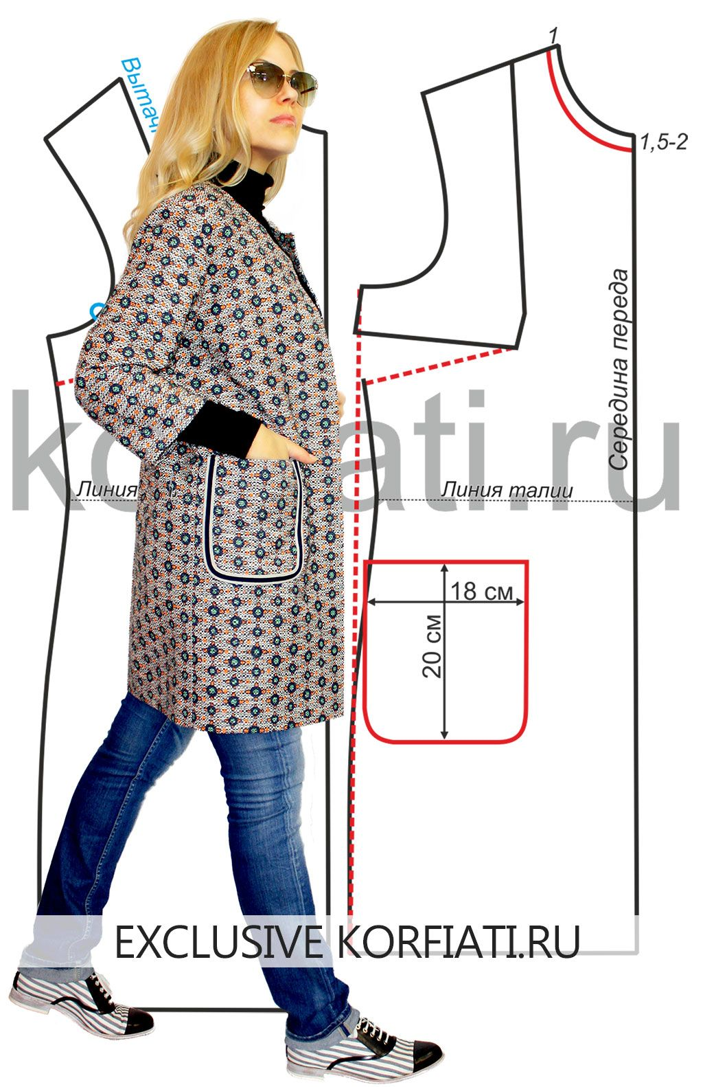Как сшить куртку без воротника фото
