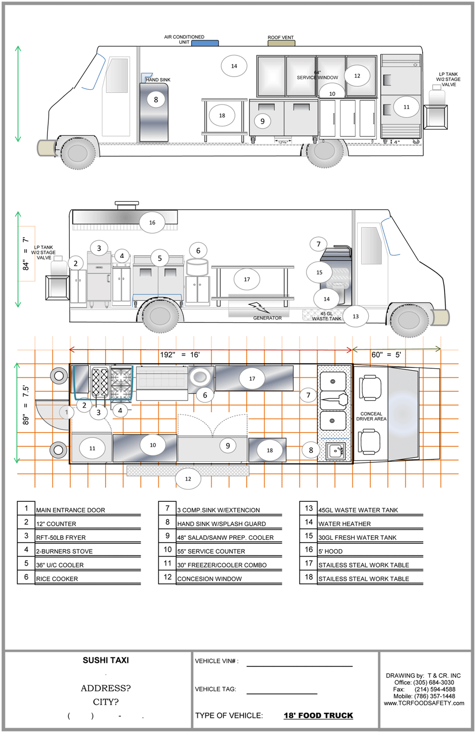 Ft plan food trucks for sale used food trucks for Food truck design plan
