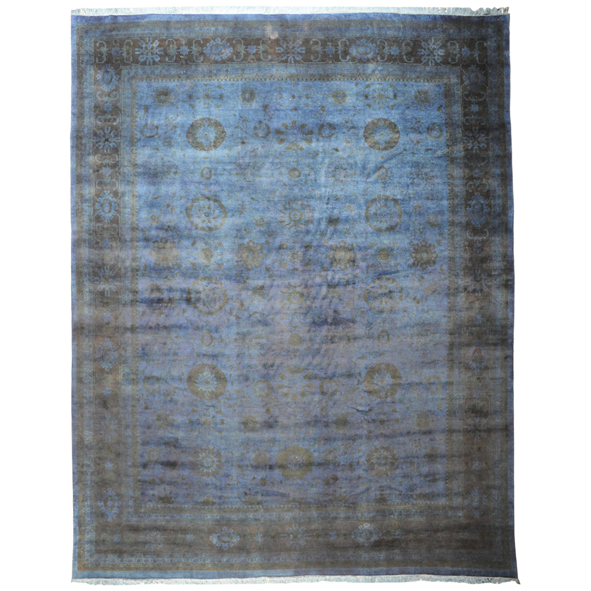 "Blue-Grey Silky Pakistani Collection Rug 11'1"" x 15'1 ..."