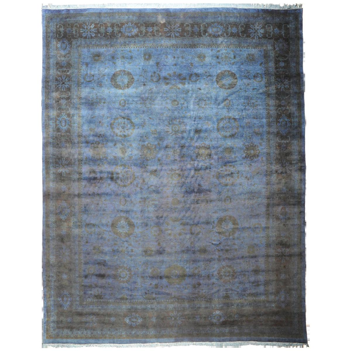 "Blue-Grey Silky Pakistani Collection Rug 11'1"" x 15'1 ..."
