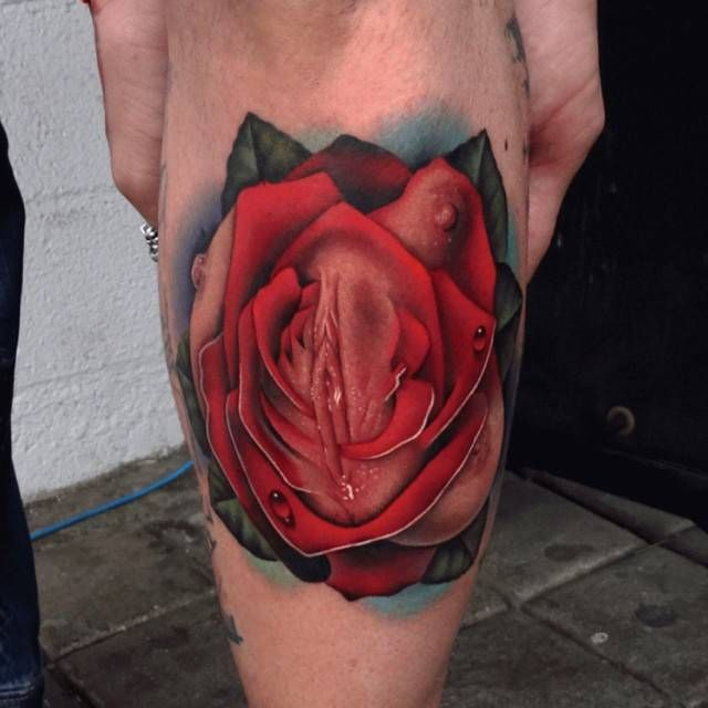 Hot Pussy Flower Tattoo
