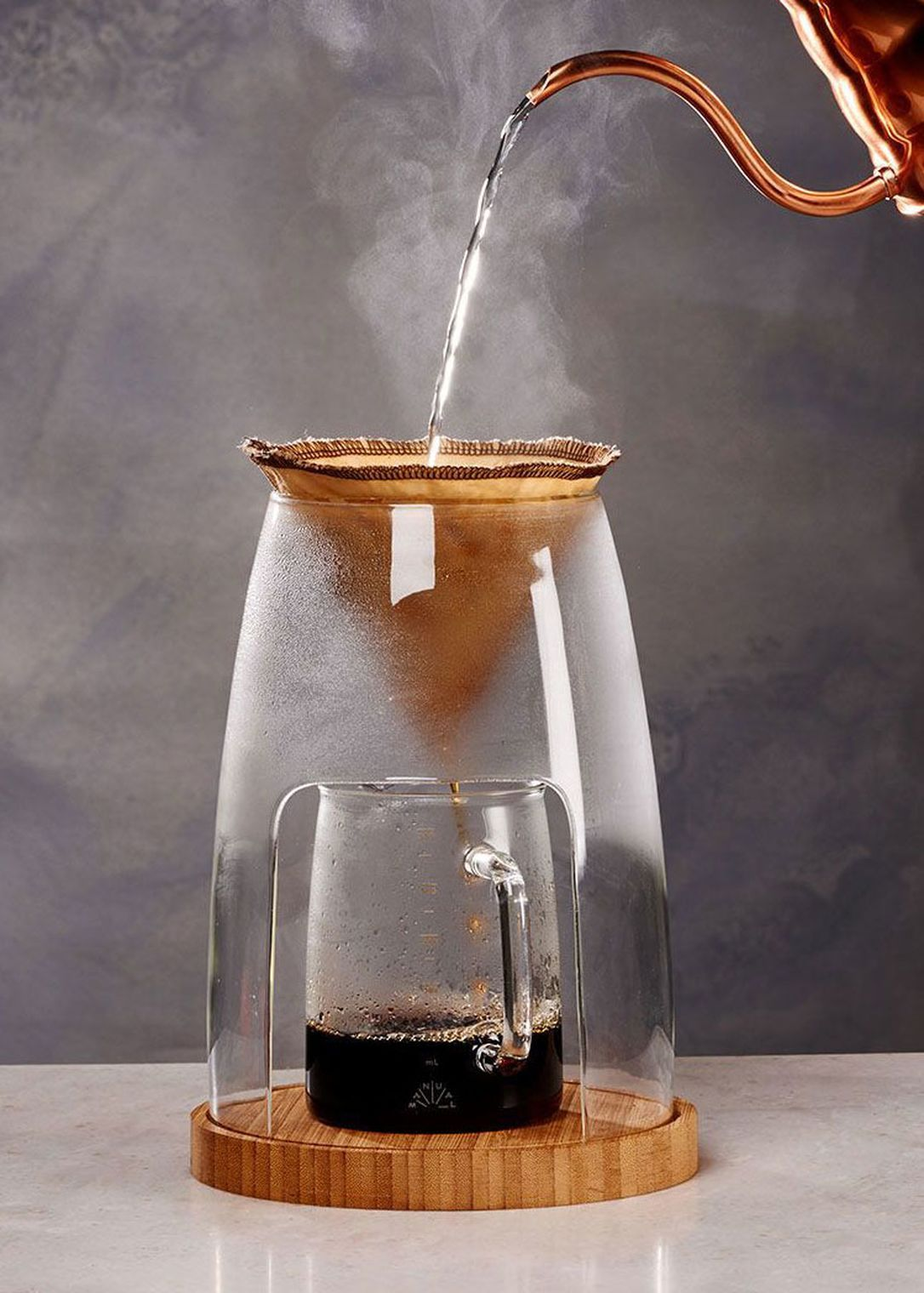 This pourover coffee maker is designed to elevate the
