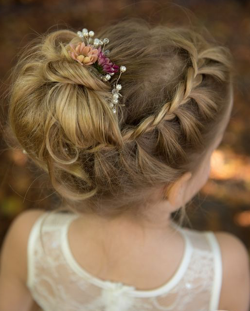 35 Cute & Fancy Flower Girl Hairstyles for Every Wedding - Part 2 #girlhairstyles