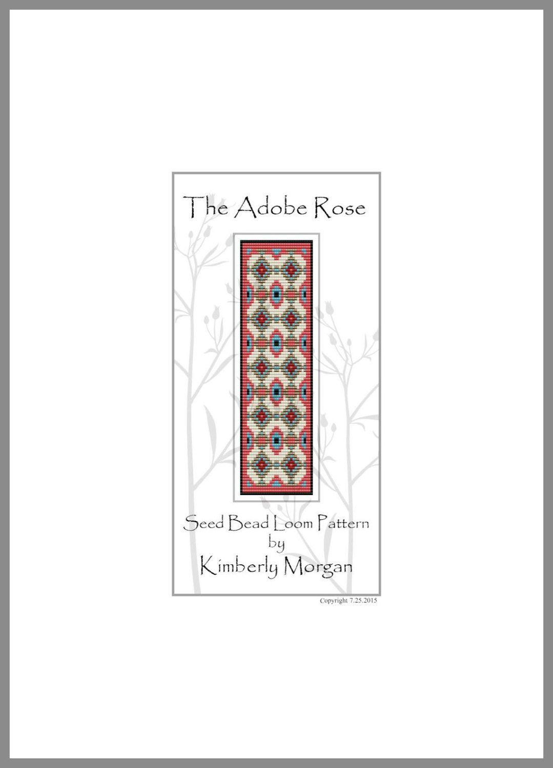 The Adobe Rose Loom Pattern PDF contains Color Graphs and