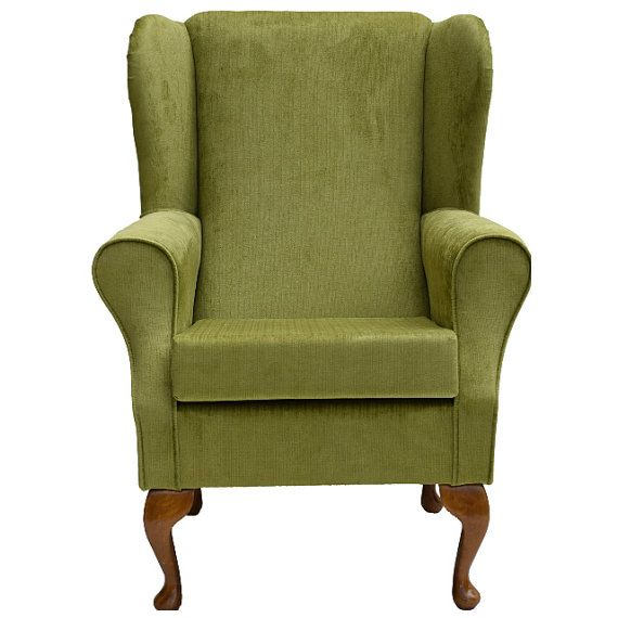 Lime Green Wing Back Statement Fabric Chair Seat By HomeCrush