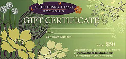Cutting Edge Stencils - $50 Gift Certificate