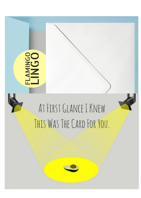 Free Delivery Within The UK Funny Birthday Card Avocado At First Glance I Knew This Was For You Wedding Graduation Love