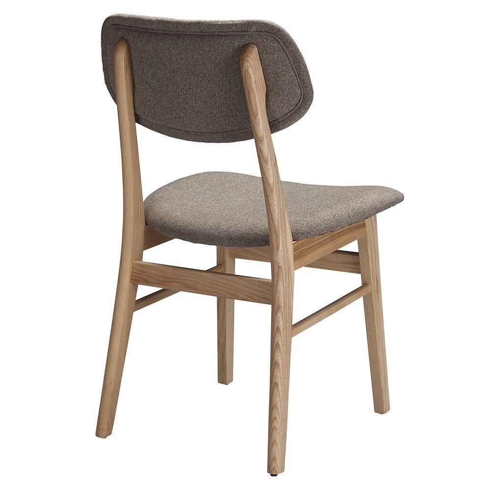 Ari Leather Dining Chair Ash: Light Grey Ash Ari Dining Chair