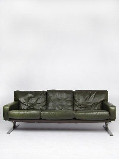 Vintage Design Shop Products Green Leather 60s Sofa Sofa Best Leather Sofa Unique Sofas