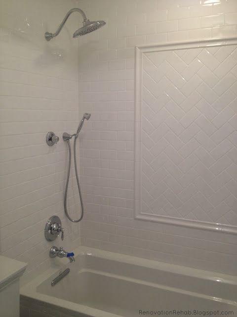 Renovation Rehab Vintage Bathroom Makeover Part 4 White Subway Tile Shower Subway Tile Showers Bathroom Makeover