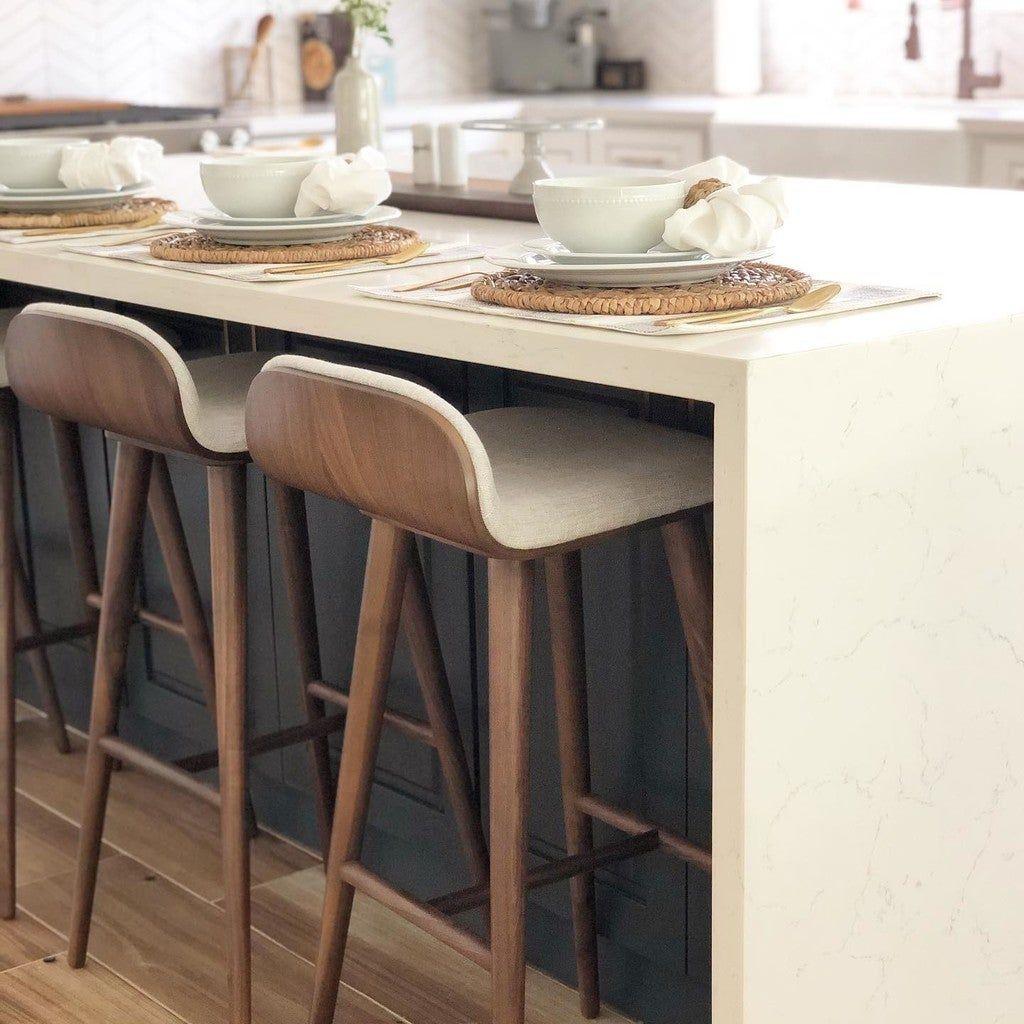 Sede Mist Gray Walnut Bar Stool In 2021 Bar Stools Kitchen Island Stools For Kitchen Island Bar Stools