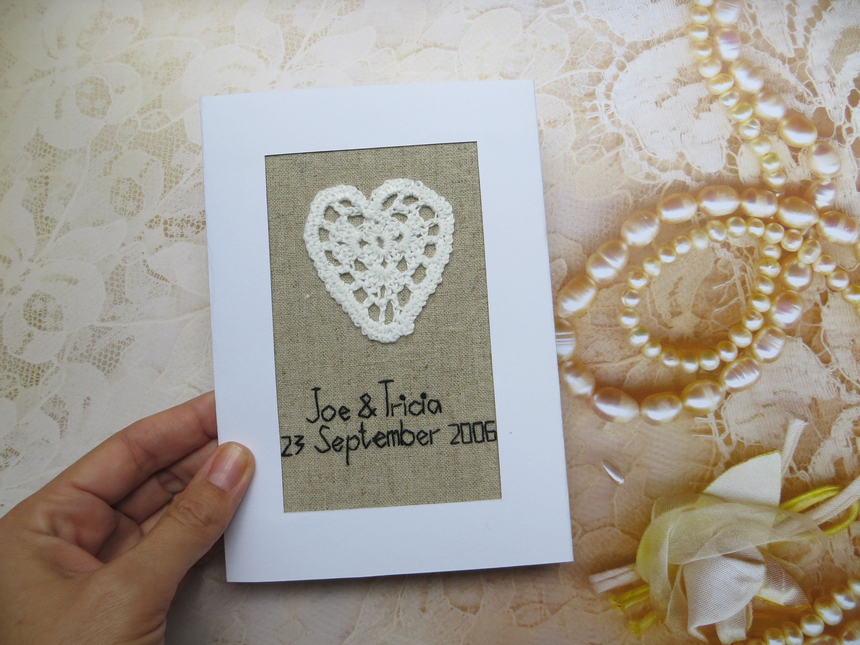 13th Anniversary Gift For Husband Or Wife Personalized Lace Etsy Anniversary Cards For Husband Anniversary Cards Handmade Best Anniversary Gifts