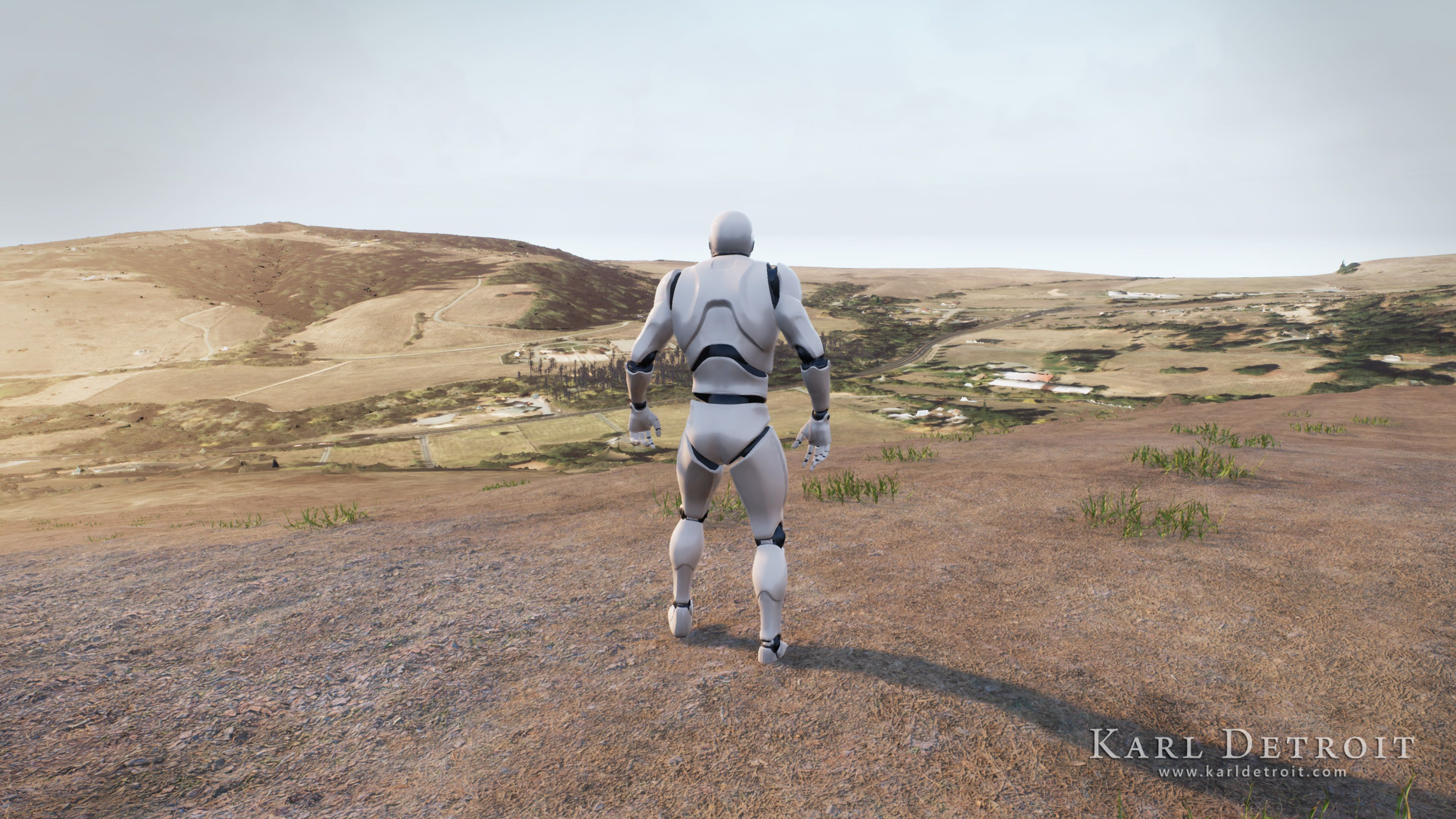 Testing the height map inside Unreal Engine 4.