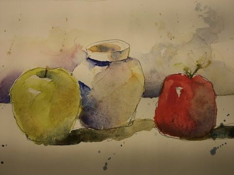Fun Watercolor Still Life Practice 1 By Chris Petri Youtube