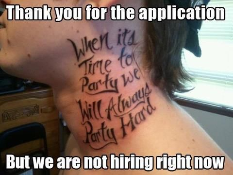 Visible piercings and tattoos can make adapting to different situations that much more difficult.