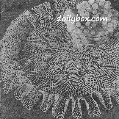 Free Vintage Crochet - Pineapple Ruffle Centerpiece Doily Pattern ...
