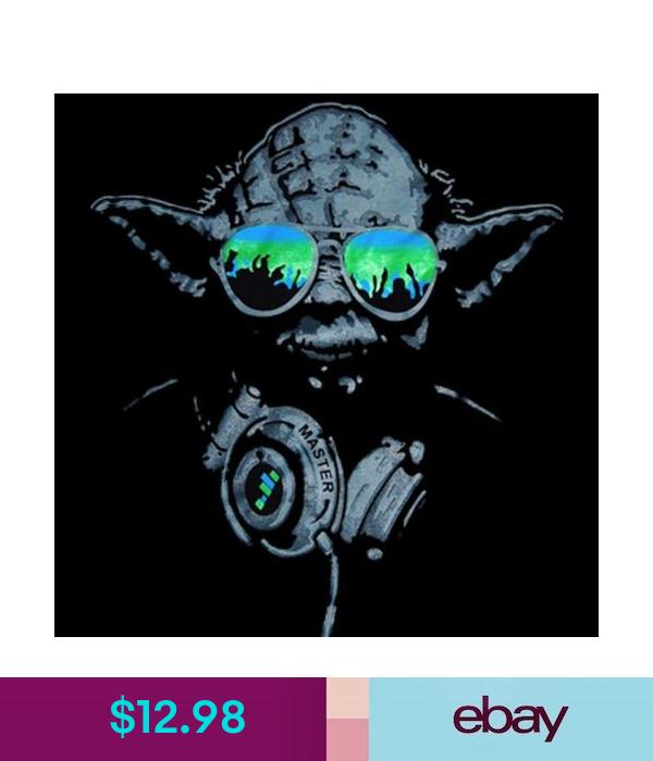 Dj Yoda Turntables Club Party Men S T Shirt Headphones Edm Star Wars Tee S Xl Star Wars Wallpaper Star Wars Art Star Wars Poster