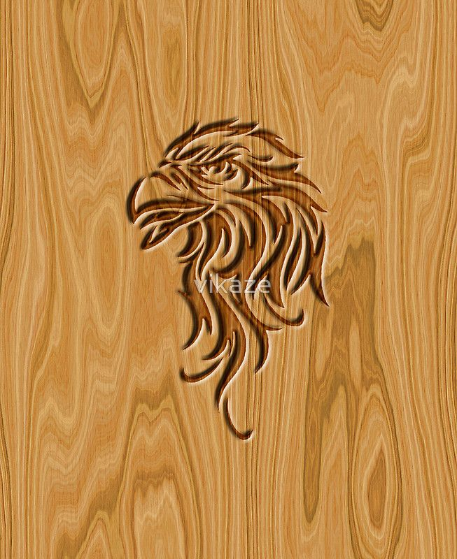 Eagle head wood carved woodworking and carving