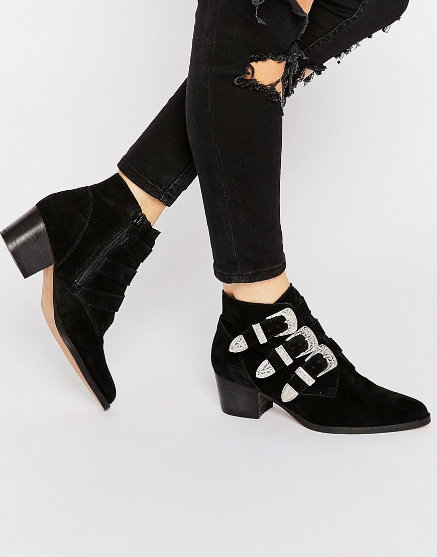 Image 1 of ASOS RYDER Suede Buckle Ankle Boots | Fashion ...