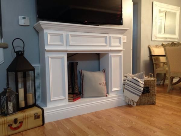 Faux fireplace do it yourself home projects from ana white faux fireplace do it yourself home projects from ana white solutioingenieria Images