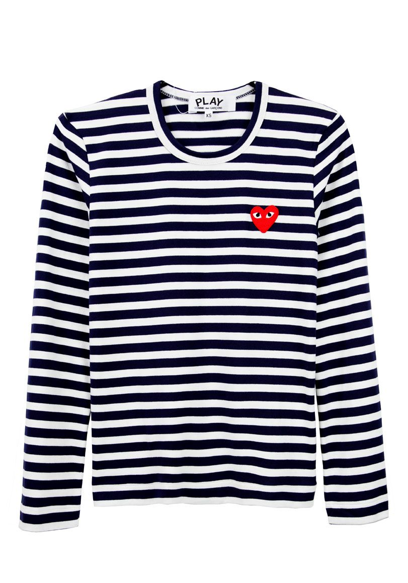 5a571f21411555 Comme Des Garcons Play Border Tee - this would be so easy to DIY ...