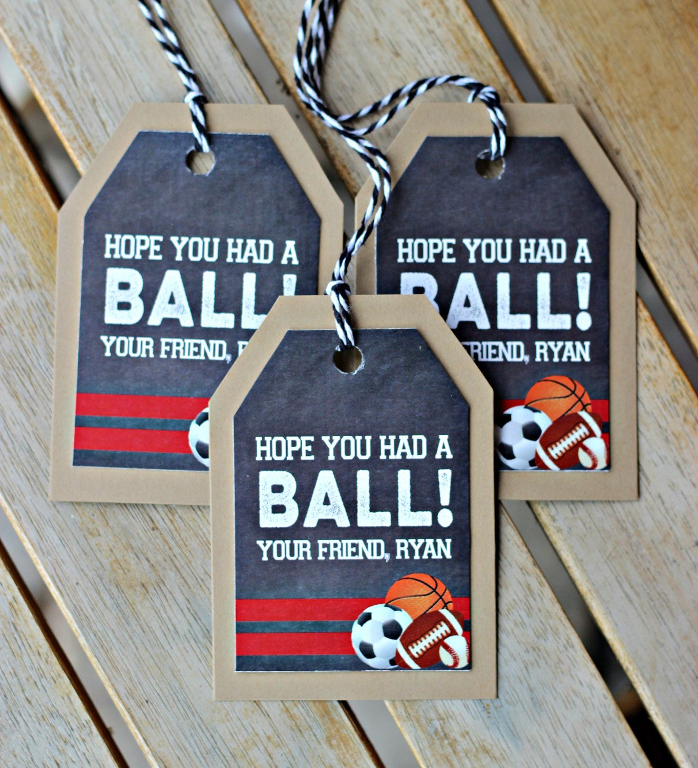 Boy All Sports Theme Birthday Party Favor Tags Set Of 18 Decoration