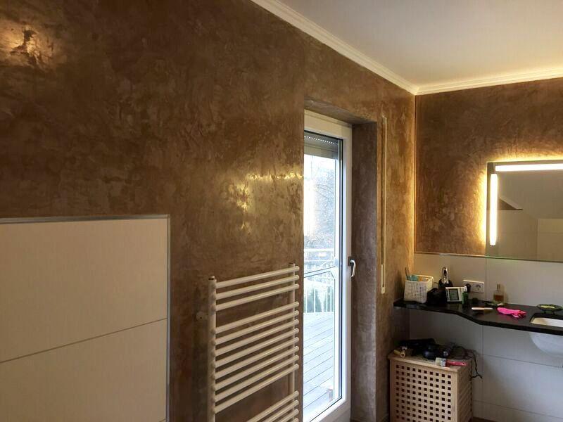 Wande Im Badezimmer Mit Stucco Veneziano Verschonern Https Www Stucco Naturale Com Marmoroptik Edel Badezimmer Stuccona Badezimmer Baumaterialien Wande