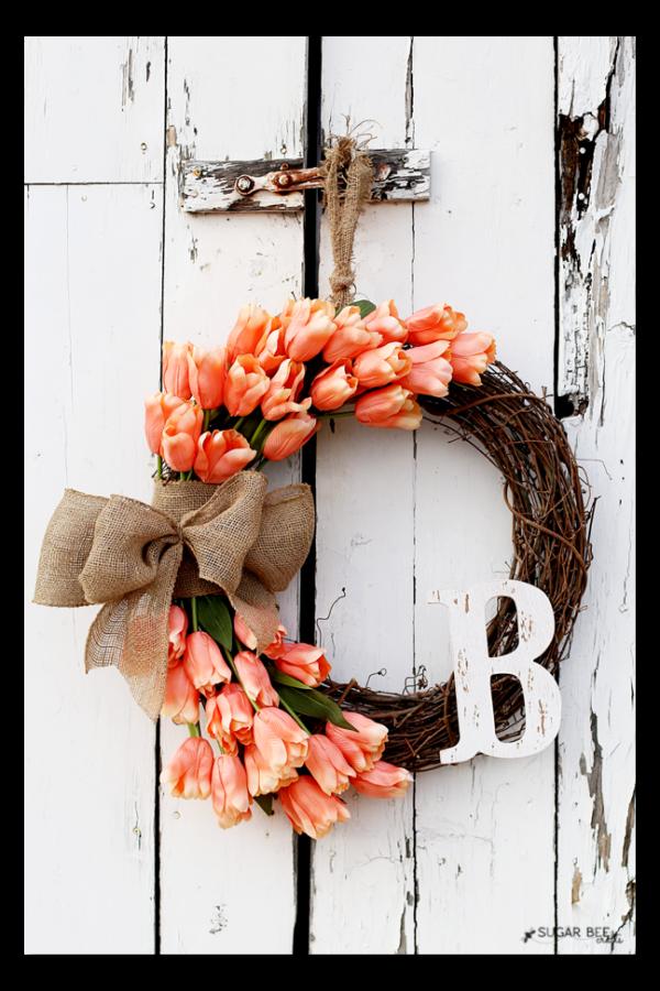 Photo of Spring tulip wreath – Sugar Bee Crafts