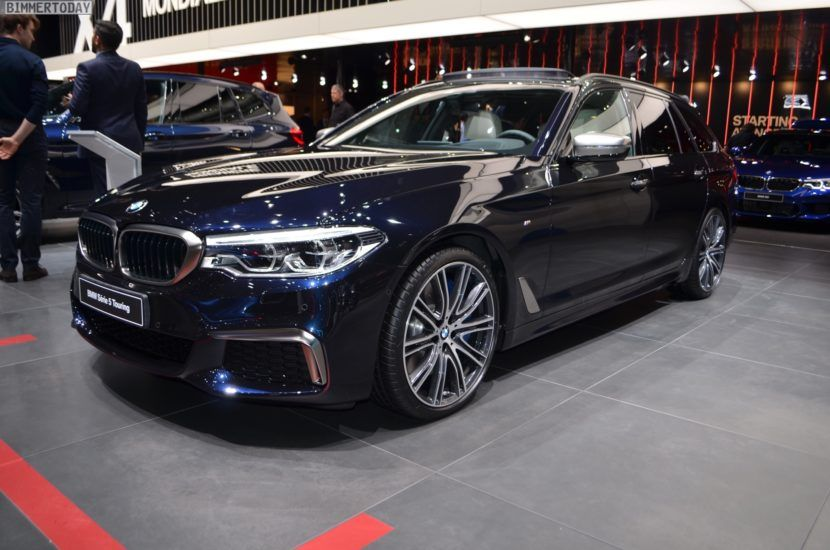 2018 Geneva Live Photos Of The Bmw M550d Touring In Azurite Black
