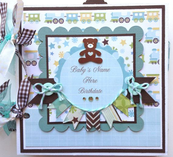 Scrapbook Mini Album Baby Boy Premade Personalized | Scrapbook ...