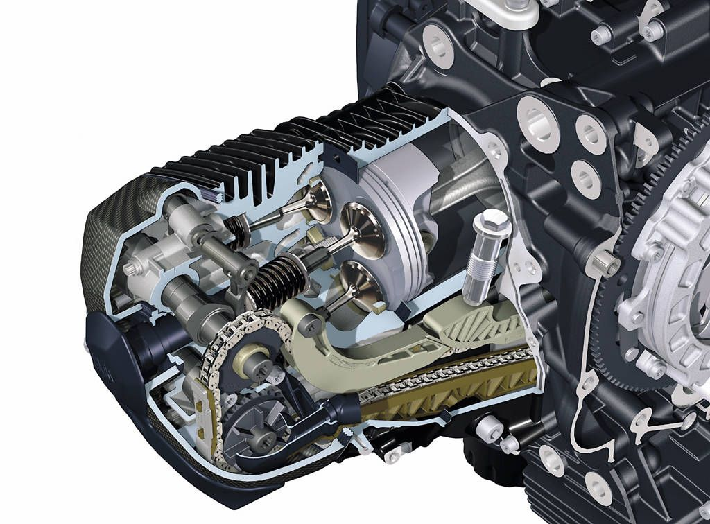 BMW Oilhead HP2 Top End Cutaway