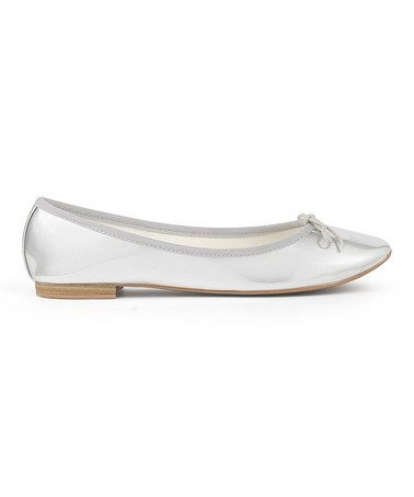 Look what I found on #zulily! Silver Simple Ballet Flat #zulilyfinds