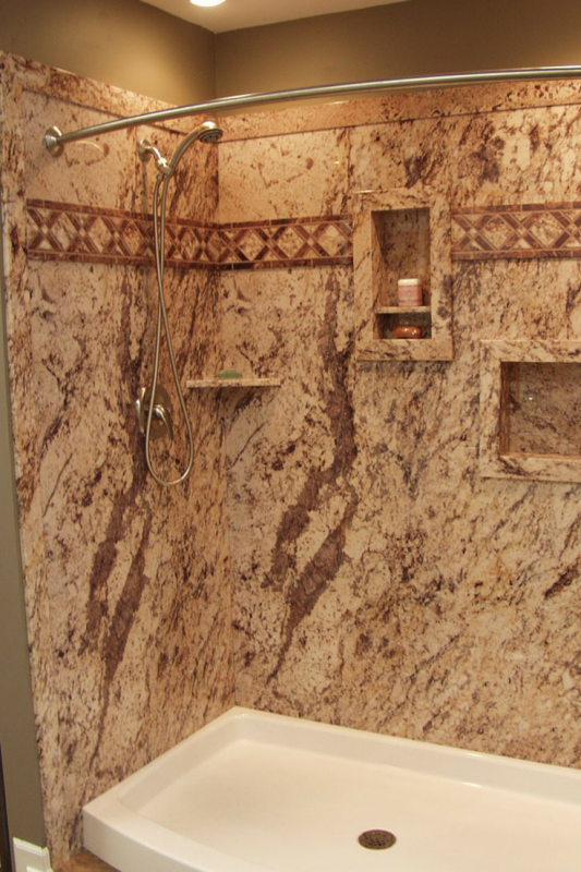 3 Design Options in Grout Free DIY Shower & Tub Wall Panels | Grout ...