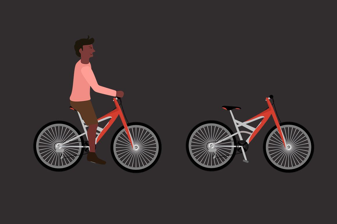 Bike Bicycle Vector Set Childrens Bike Bicycle Bike Child Bike Seat