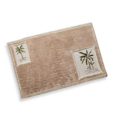 Croscill Fiji Bath Rug Bedbathandbeyond Com Bath Rug Palm Tree Bathroom Decor Tree Shower Curtains
