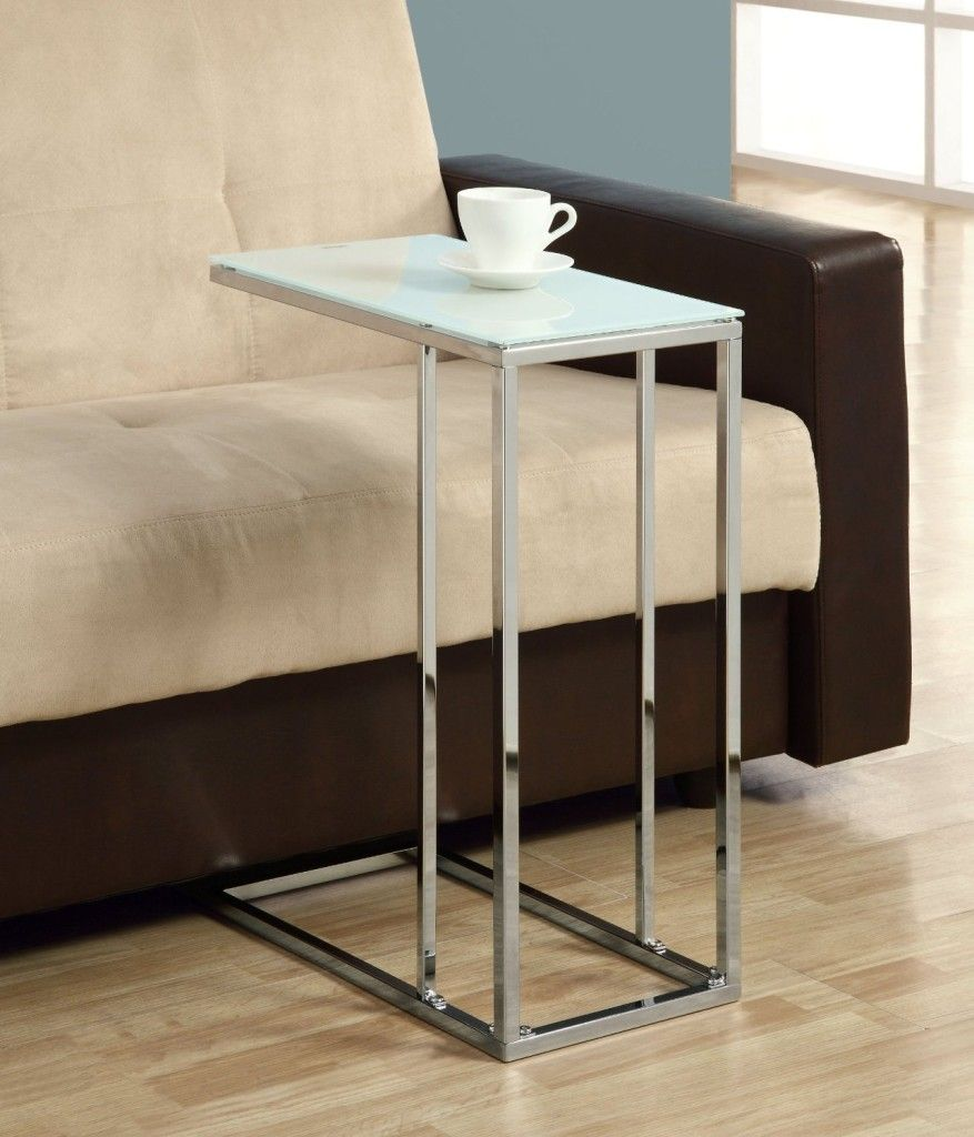 Gl Slide Under Sofa Table Coffee Tables Furniture
