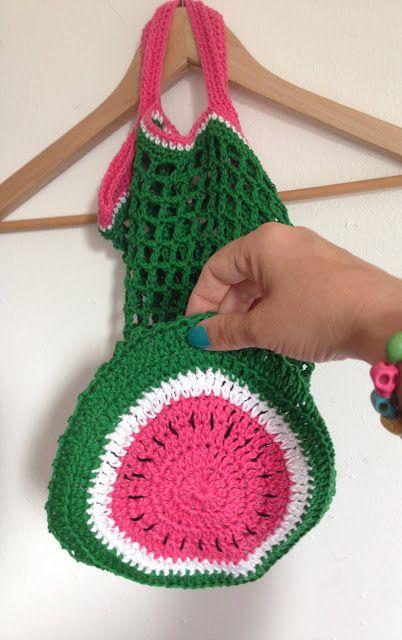Haakpatroon Boodschappennetje Meloen Crochethaken Pinterest