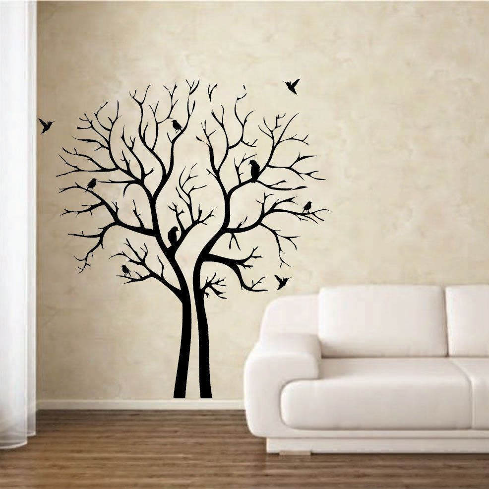 Tree Stencil For Wall Mural   Simple Wall Decor Ideas Part 3