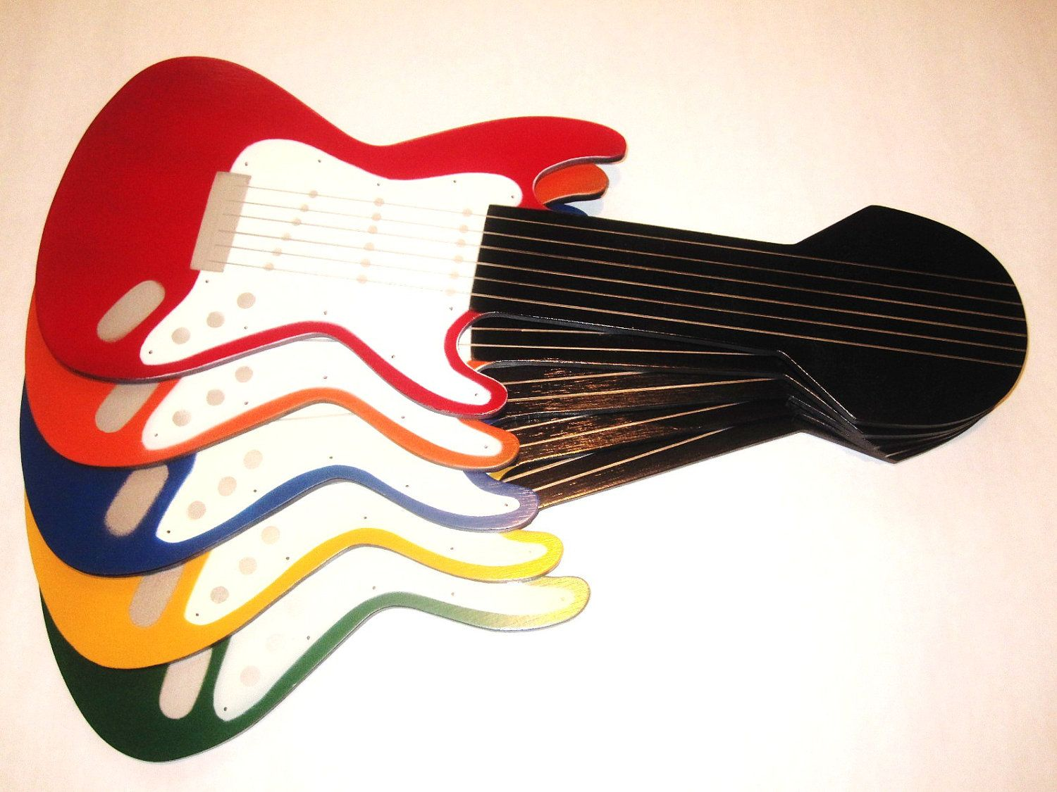 Multi colored electric guitar shaped ceiling fan blades 4999 via multi colored electric guitar shaped ceiling fan blades 4999 via etsy christmas aloadofball Choice Image