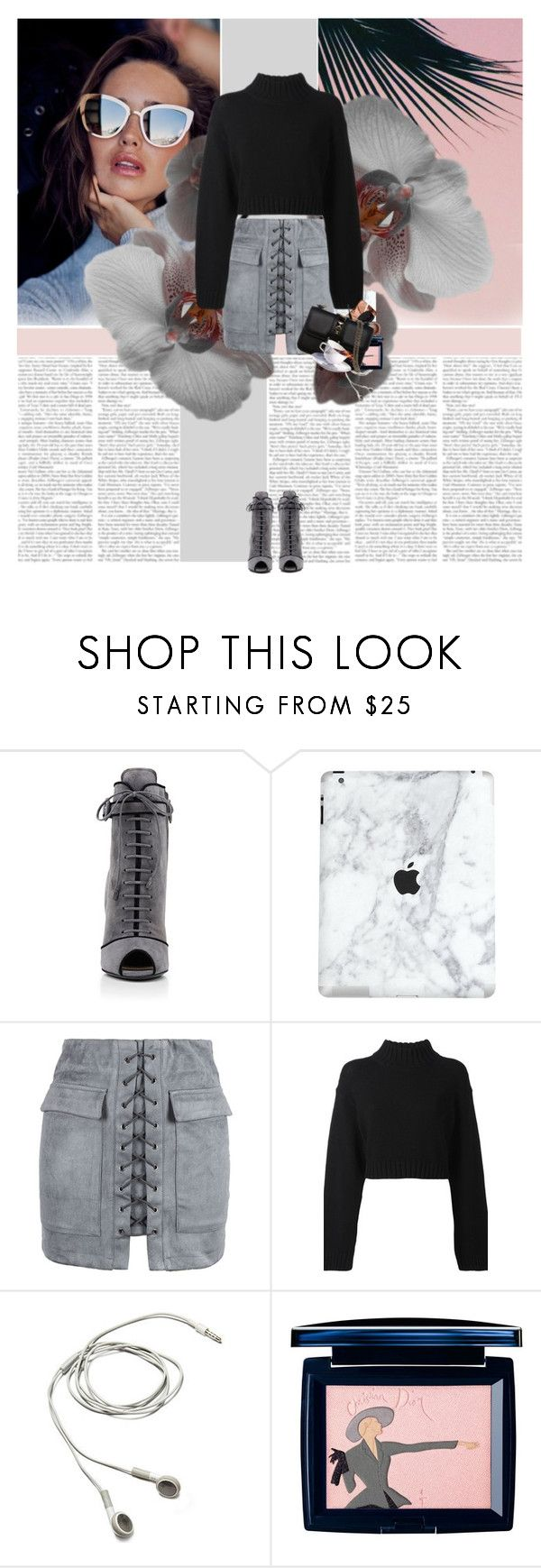 """""""Untitled"""" by alina ❤ liked on Polyvore featuring Quay, Prada, WithChic, DKNY, Christian Dior and Valentino"""