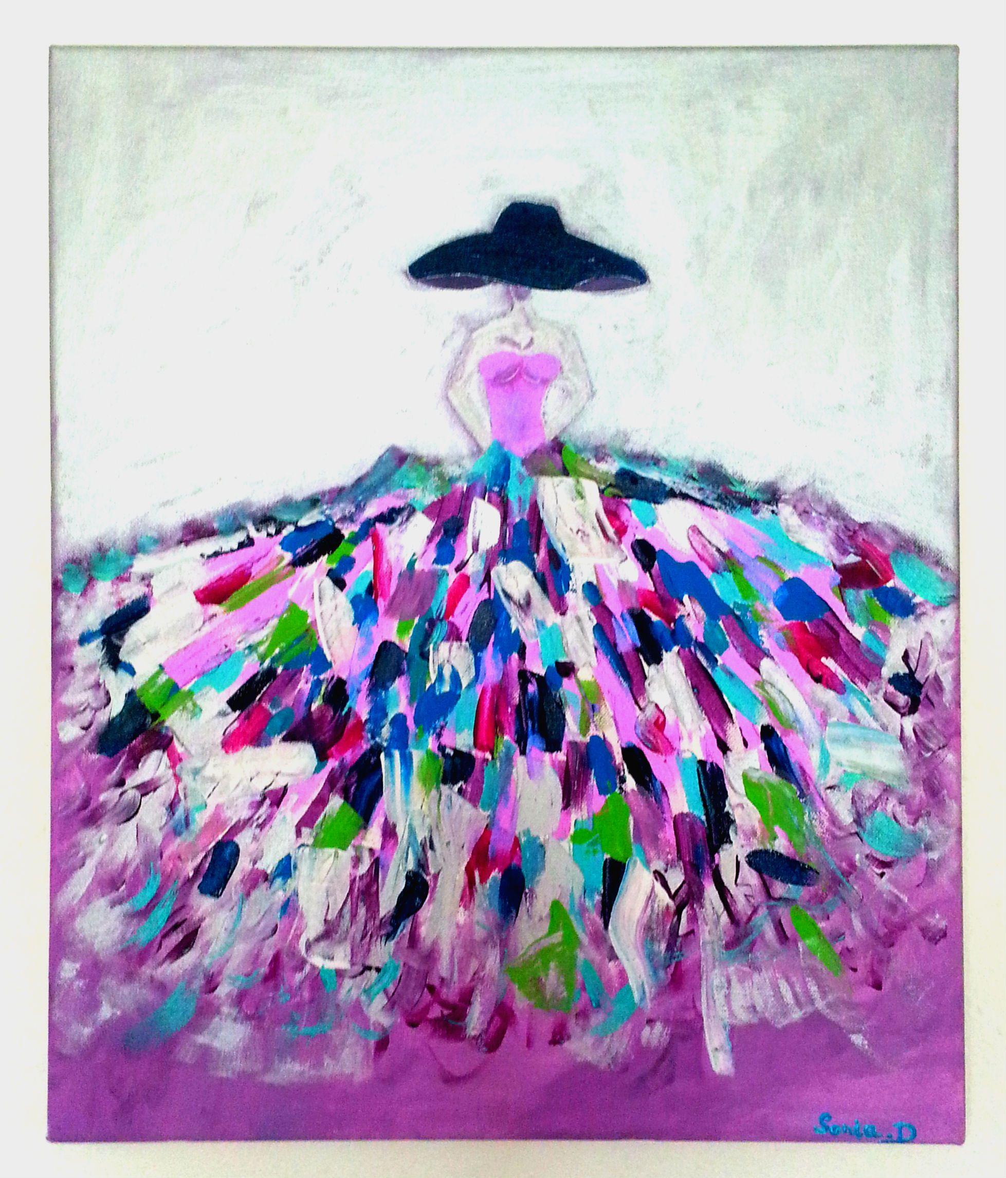 pingl par dagostin sonia sur portrait de femme pinterest peinture tableau et art abstrait. Black Bedroom Furniture Sets. Home Design Ideas