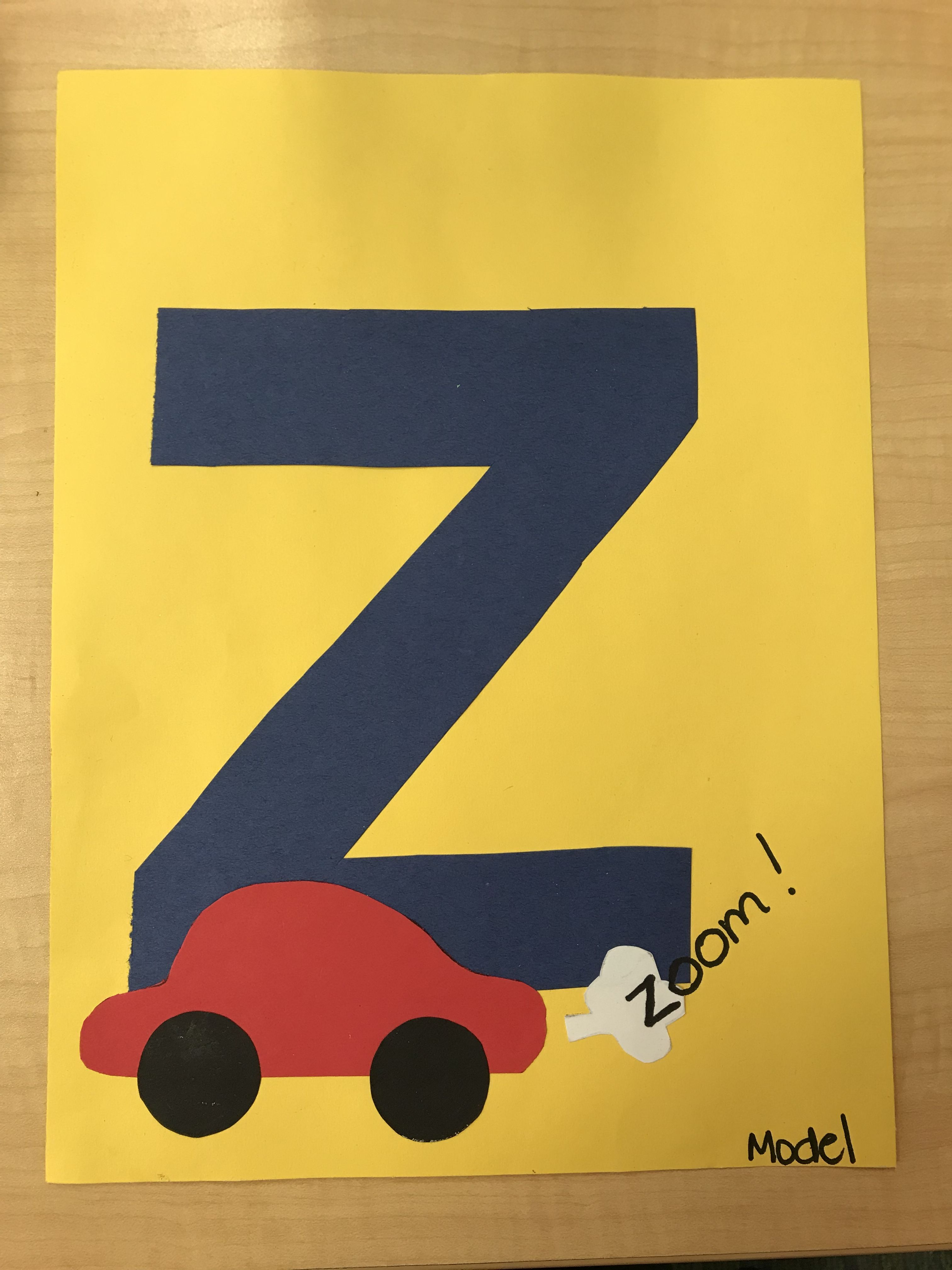 "Z is for ""zoom"" letter craft Letter z crafts, Letter a"