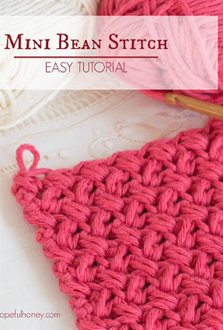 How To: Crochet The Mini Bean Stitch  Easy Tutorial